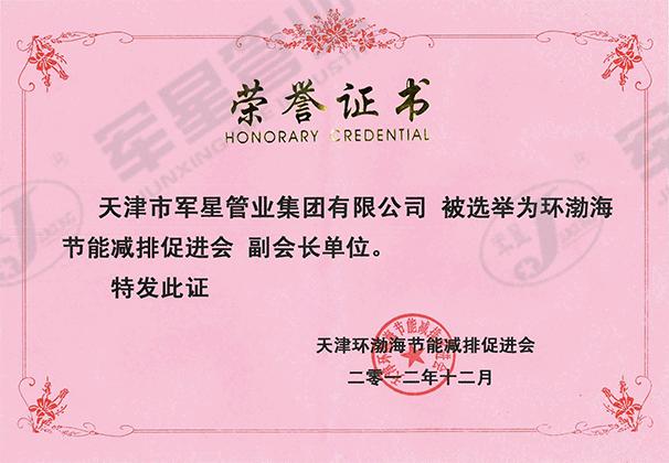 环渤海节能减排促进会副会长单位